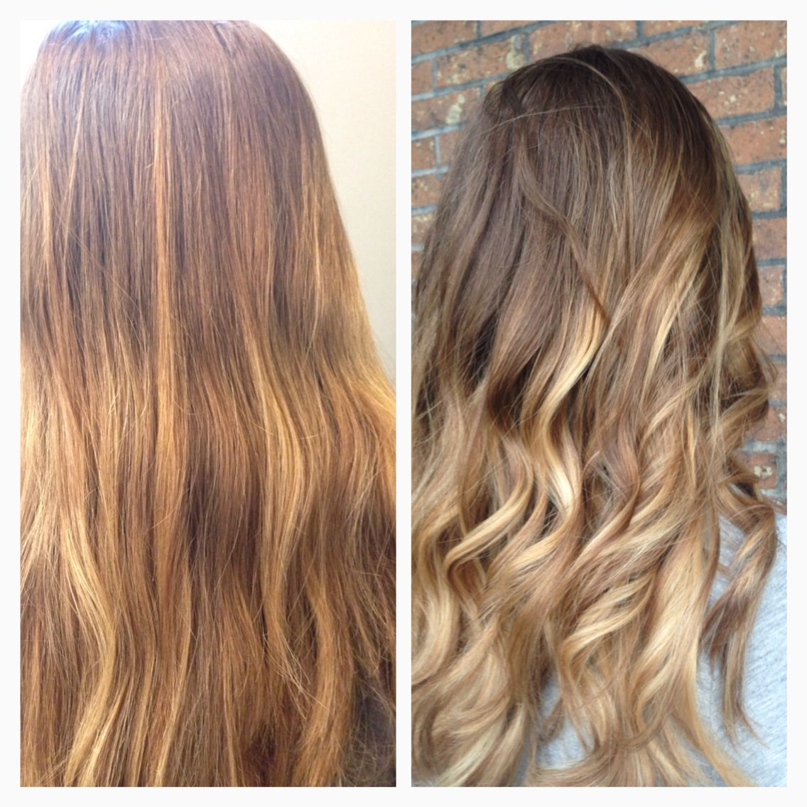Kick the brass before and after blonde hilights balayage by balayage by teri ward j mcqueen salon cincinnati pmusecretfo Images
