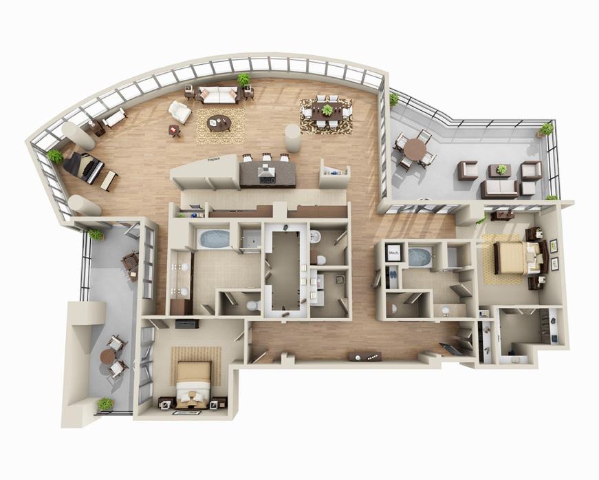 High Rise Apartments Denver Apts Floor Plans in
