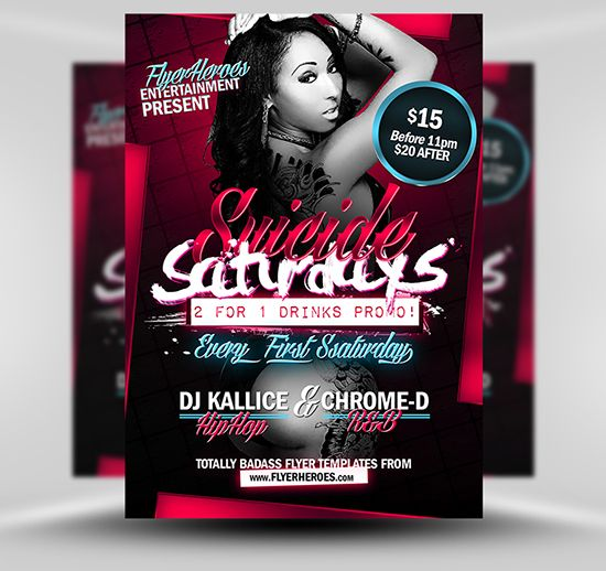 Suicide Saturdays Flyer Template Psd Photoshop Flyer Template
