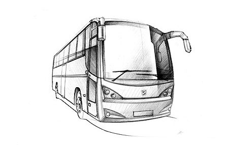 Baren Boym Bus Concepts Onibus Desenho Desenhos Perspectiva