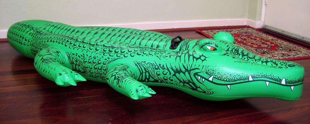 Inflatable Alligator :)