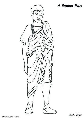 Dibujo para colorear Hombre romano | Ancient Greek art | Rome ...