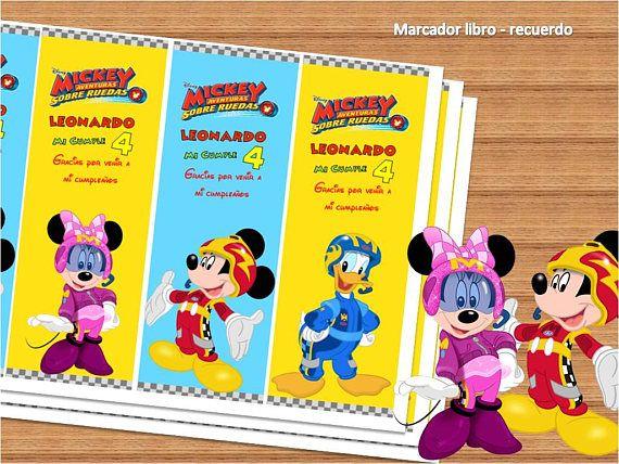 Kit Imprimible Mickey Aventuras Sobre Ruedas Kit