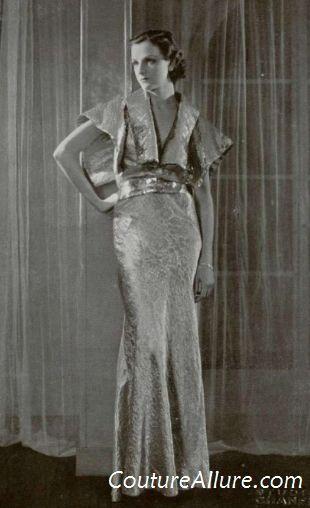 Soeurs Fashion | Callot Soeurs dress in dove gray with pink ... | Fashion: Callot So...