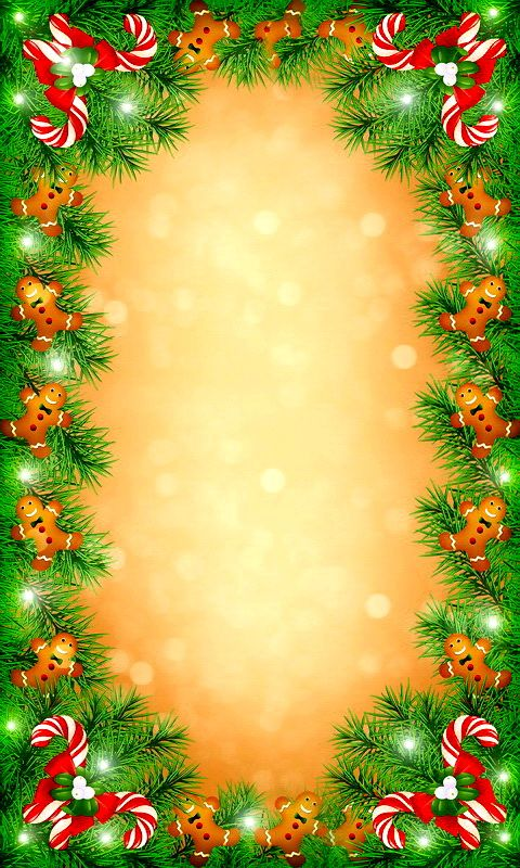 Download 480x800 «Christmas Frame» Cell Phone Wallpaper