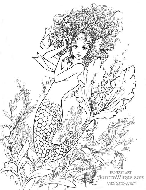 Realistic Mermaid Illustrations Print Out Drawing Mermaid Coloring Pages Mermaid Coloring Realistic Mermaid