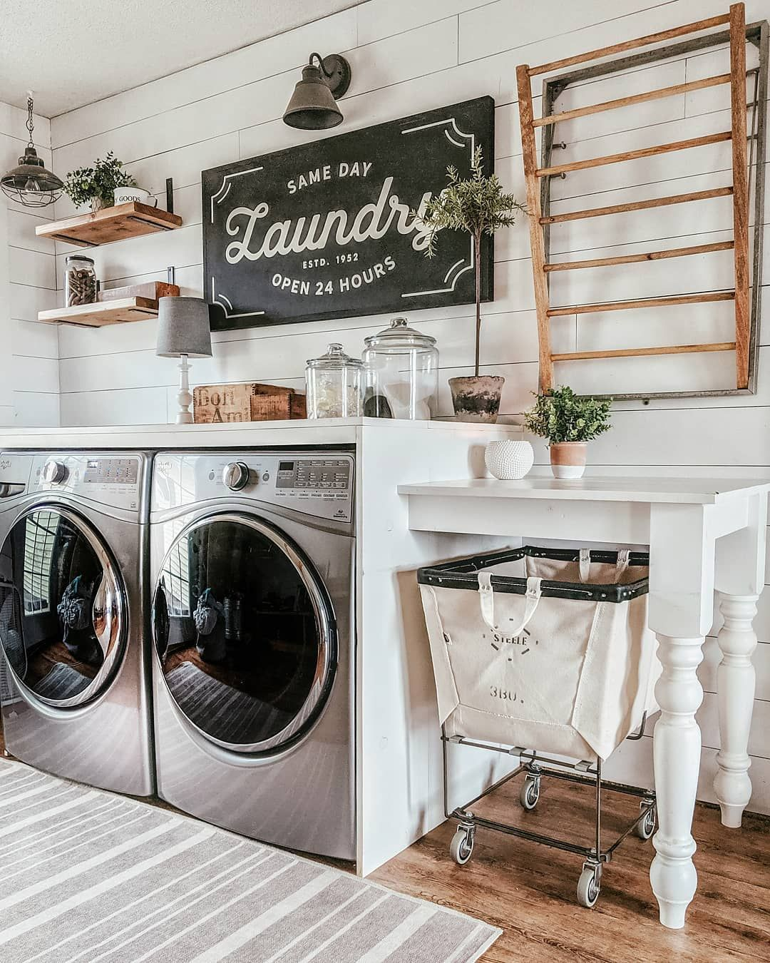 Erica Mueller On Instagram I Haven T Changed Up This Room In A Couple Years It Was Time See Anything Laundy Room Laundry Room Decor Farmhouse Laundry Room