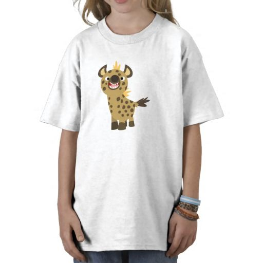 Cute Smiling Cartoon Hyena Children T-Shirt by Cheerful Madness!! at Zazzle