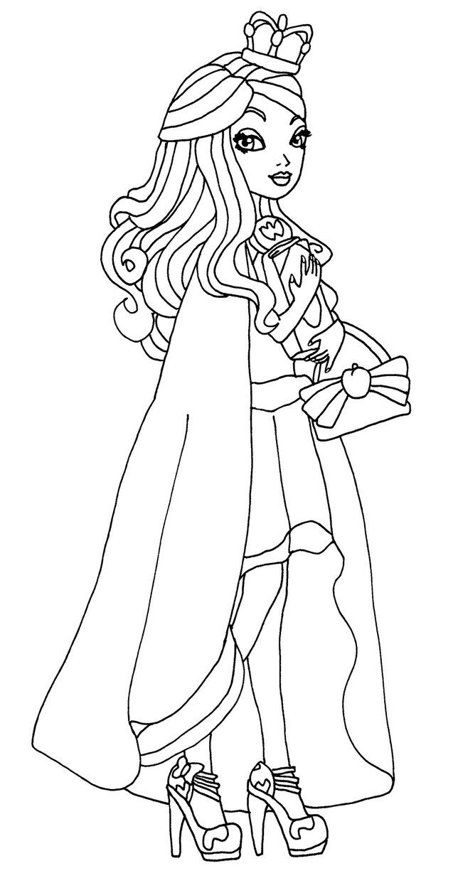 Coloring Pages Of Apple White | Coloring Page