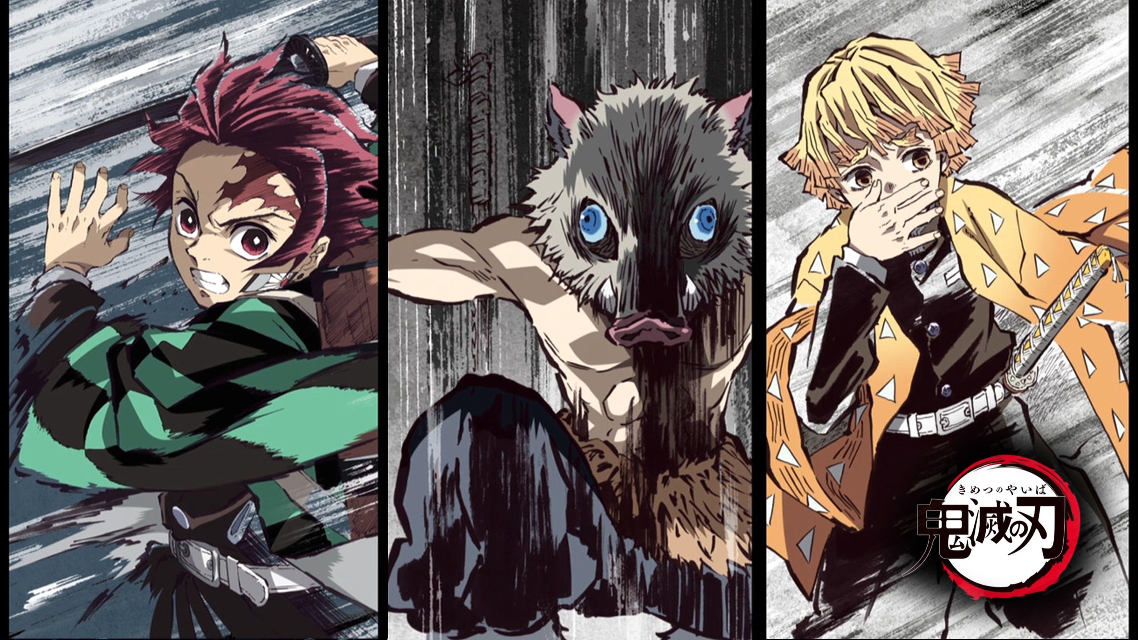Anime Demon Slayer Kimetsu No Yaiba Inosuke Hashibira Tanjirou Kamado Zenitsu Agatsuma 4k Wallpaper Hdwallpape In 2020 Anime Wallpaper Anime Cool Anime Wallpapers