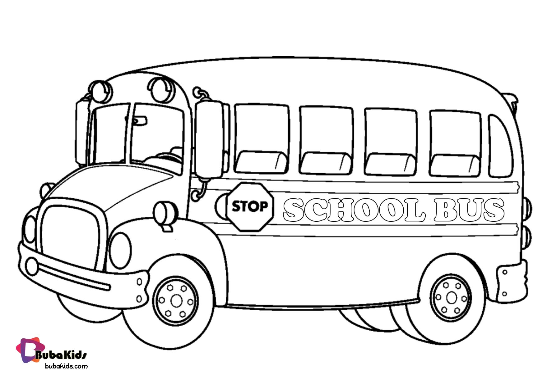 School Bus Coloring Page Bubakids Com School Bus Transportation Bubakidscom Schoolbus School Coloring Pages Preschool Coloring Pages School Bus Crafts