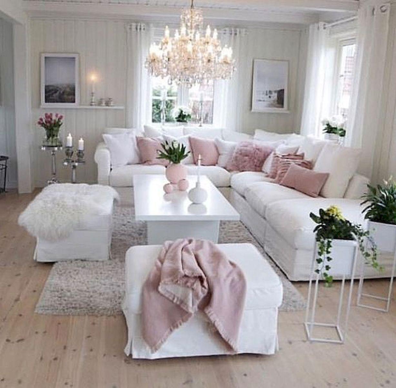 60 Elegant White Living Room Decor Ideas And Remodel Pink Living