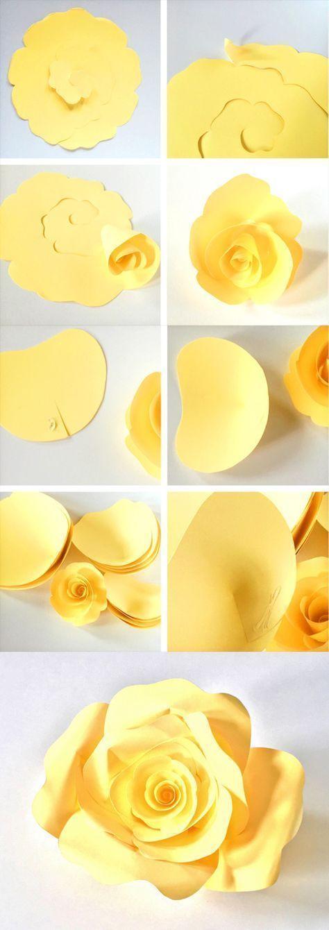 Como Hacer Flores De Papel Gigantes Para Decorar Tu Evento Como Hacer Flores De Papel Hacer Rosas De Papel Rosas De Papel