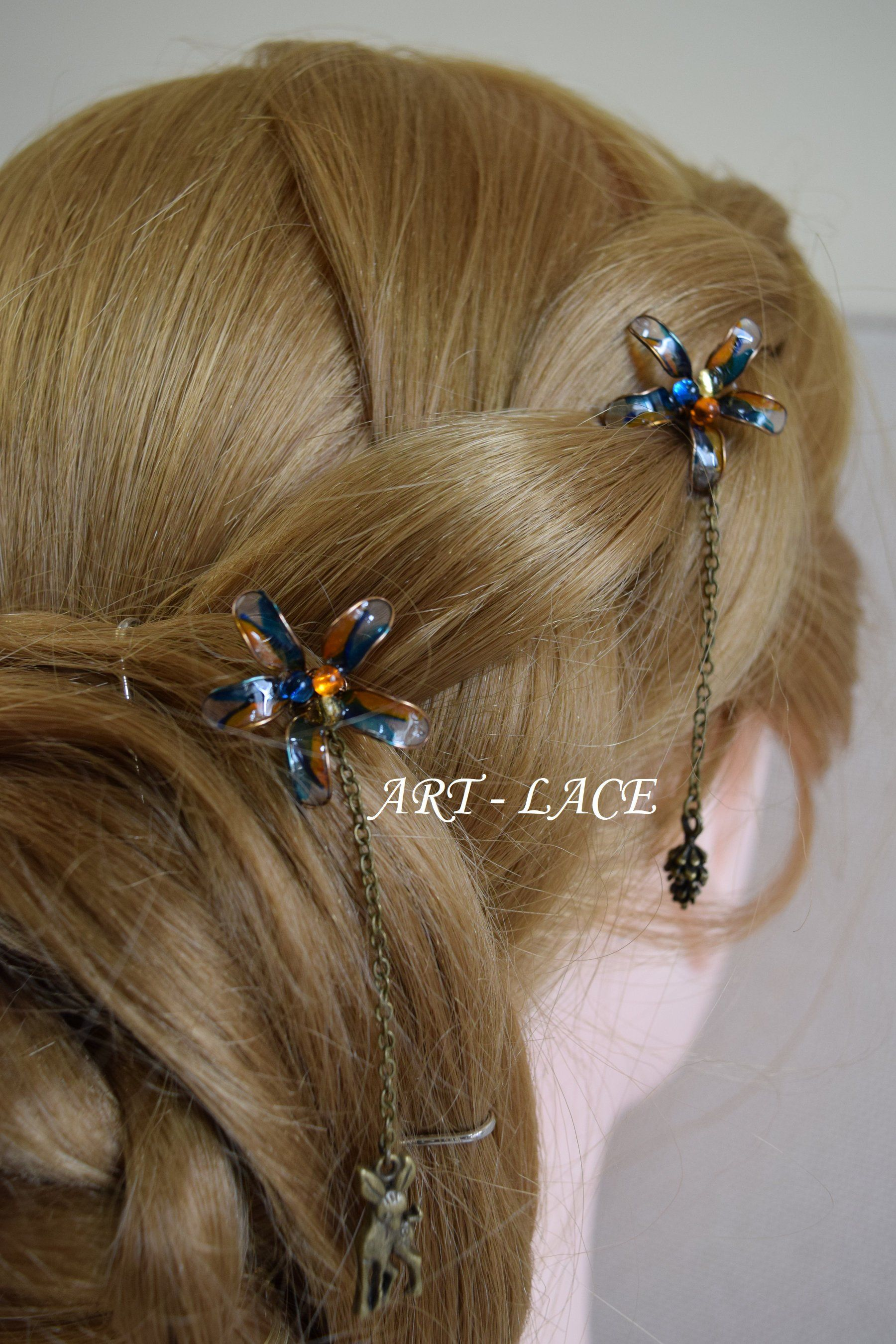 d359ed4be Labor Day Sale 10% off until 4th September in my #etsy shop: Bronze hair  accessories for women #Bridal #Rustic #flowerhairclip #Tealhairpin #Autumn  ...