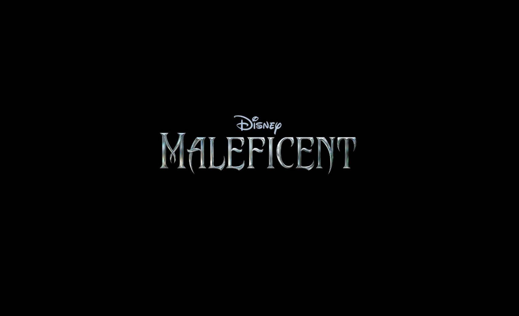 Minimalistic Maleficent Logo Black Background Wallpaper