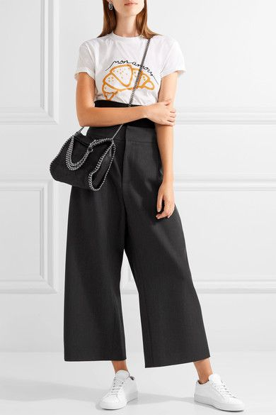 476d4cf94aef Stella McCartney - The Falabella Tiny Faux Brushed-leather Shoulder Bag -  Black