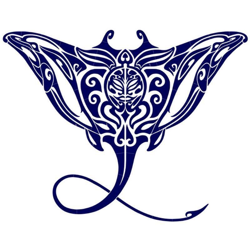 tribal manta ray mosaic blue pool mosaic tattoo hawaiian tattoo and piercing. Black Bedroom Furniture Sets. Home Design Ideas