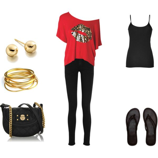"""Red"" by honeybee20 on Polyvore"