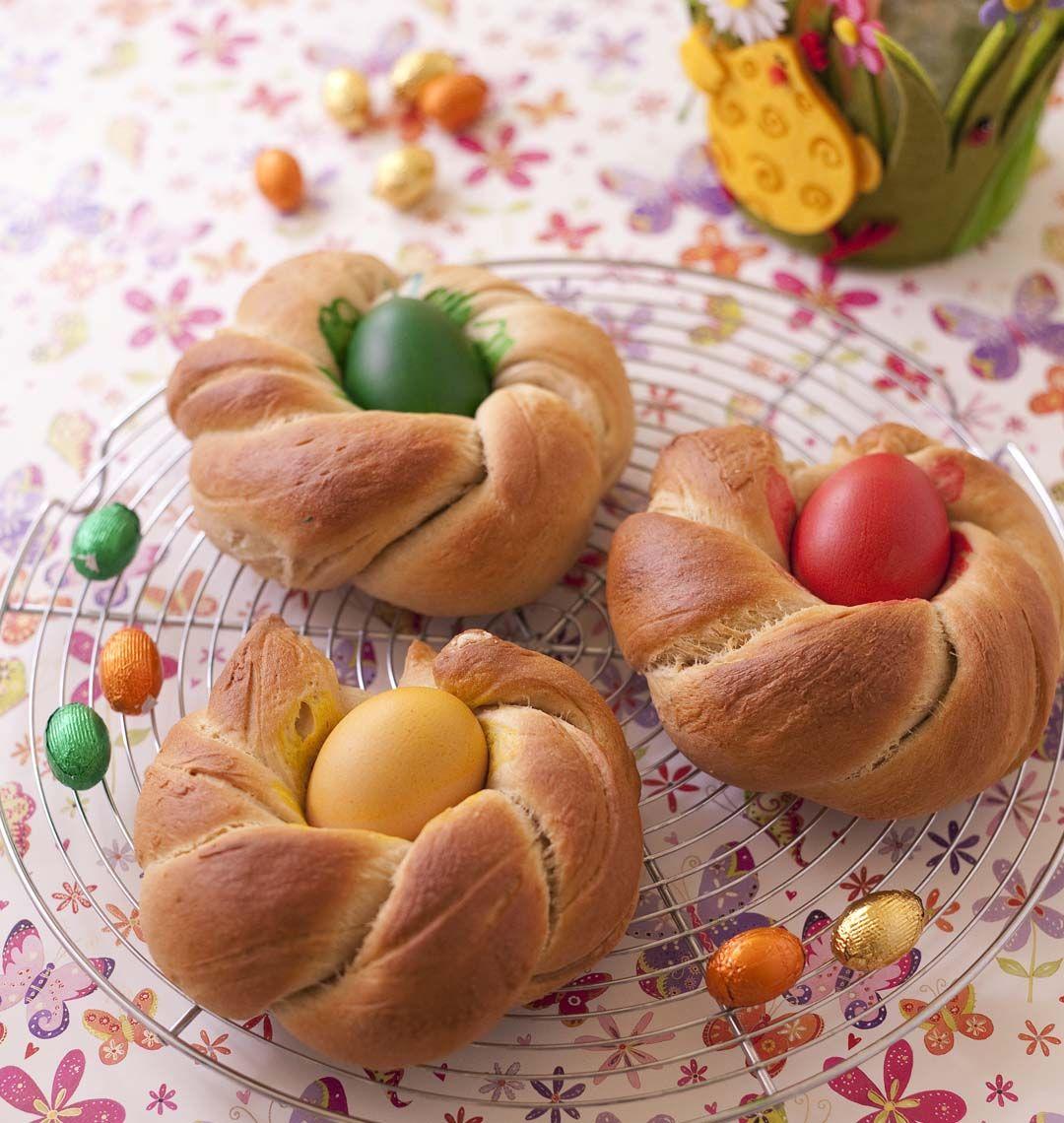 Brioche nids de p ques italienne recette le careme table de p ques et la brioche - Recette nid de paques au moka ...