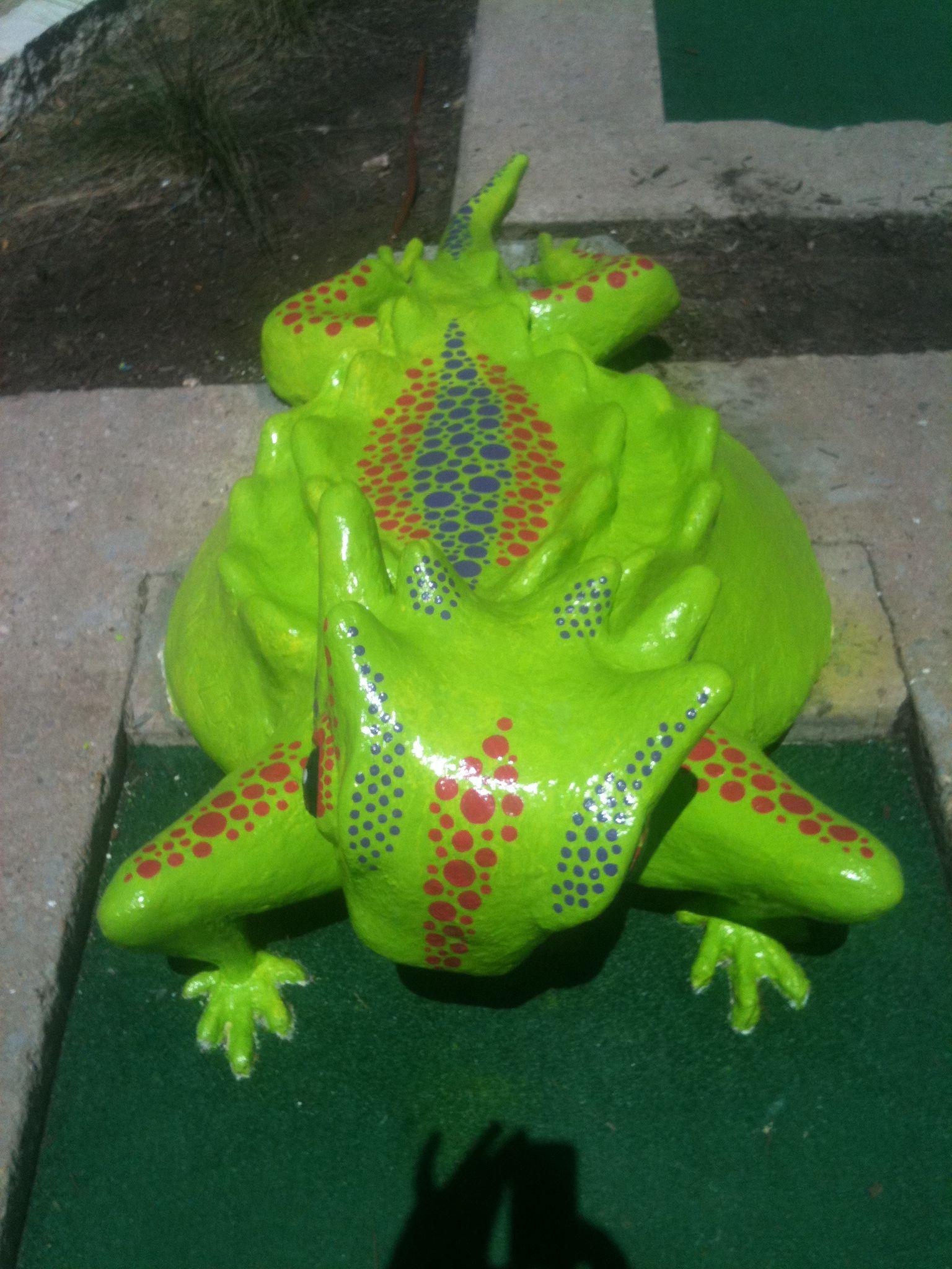Horny Toad, Peter Pan Mini Golf, Austin TX...sculptor: Cheryl D Latimer