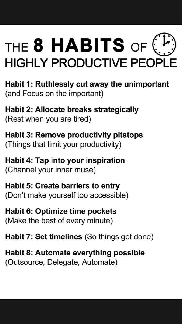 Be Productive By Applying theses Habits