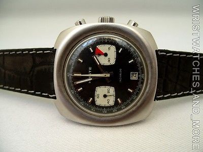 "HASTE CHRONOGRAPH ""VINTAGE"" JUMBO SIZE 40mm STEEL CASE, VALJOUX 7734, WITH DATE."