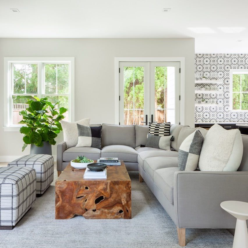 Neutrals Never Looked So Good The Irving L Sectional In Putty Performance Linen Design By Aliciamurphy Livingroom Layout Room Layout Living Room Designs