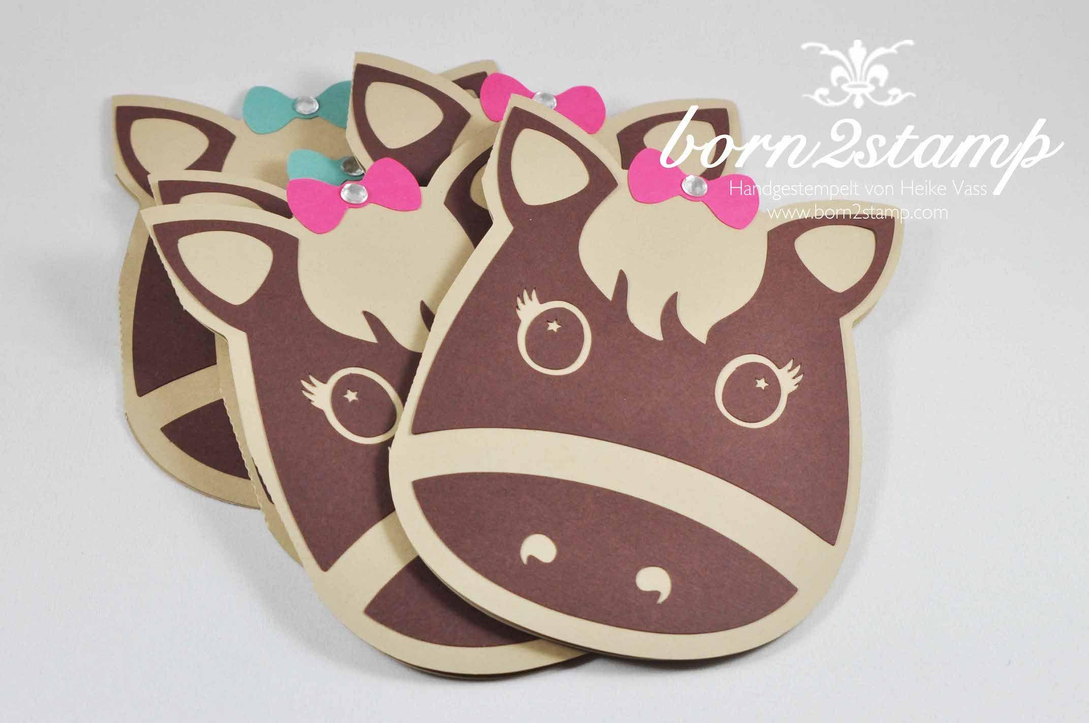 stampin' up! born2stamp einladung pferdeparty kindergeburtstag, Einladungskarten