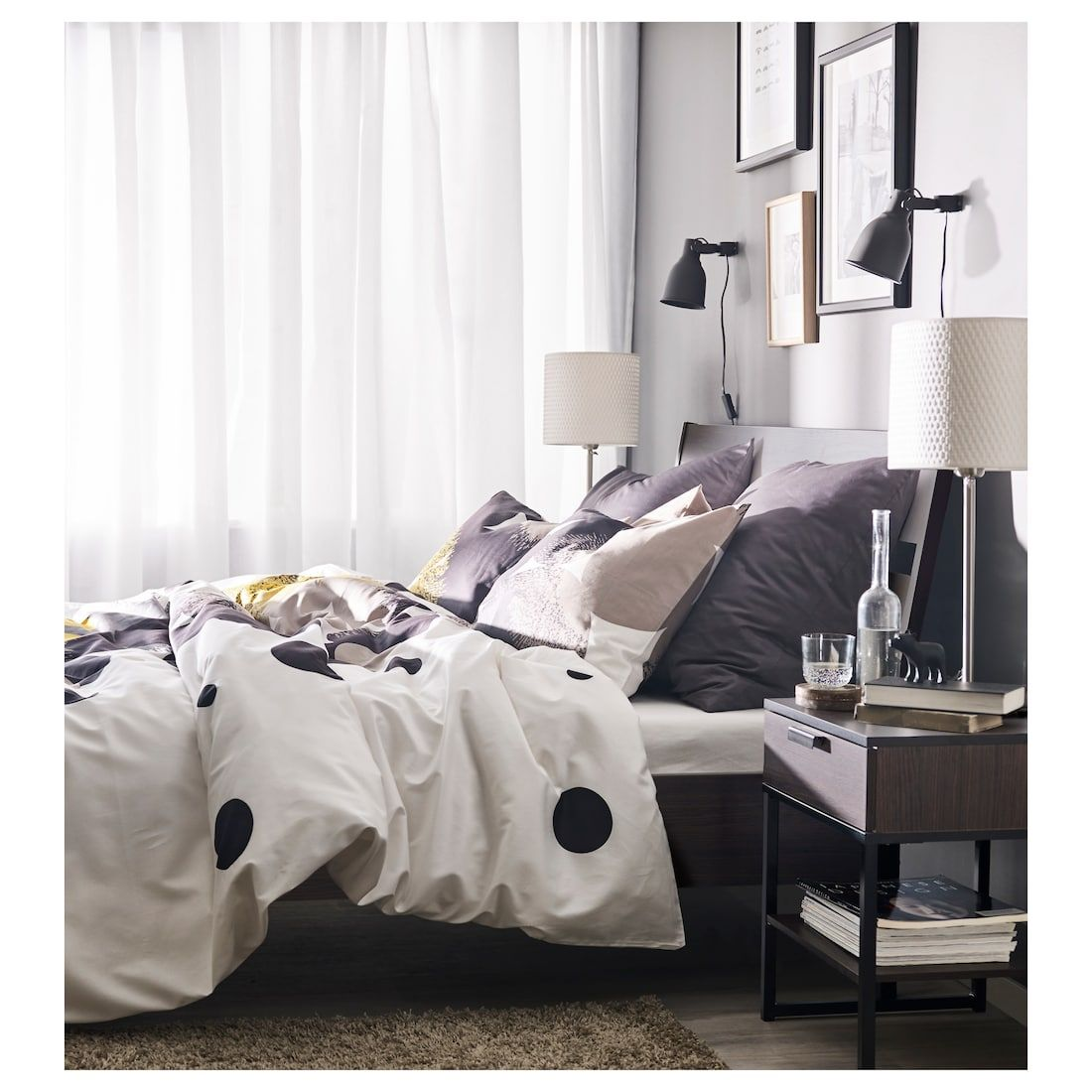 Trysil Bed Frame Dark Brown Lonset Ikea Ikea Bed Frames