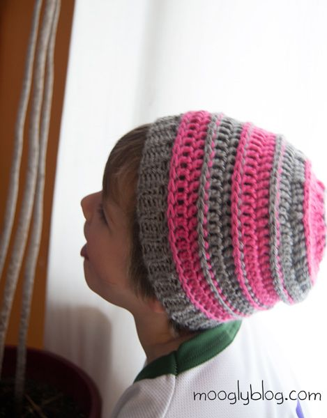 7e8b30527d9 Free Pattern  Sweet Striped Crochet Hat - for Babies and Kids ...