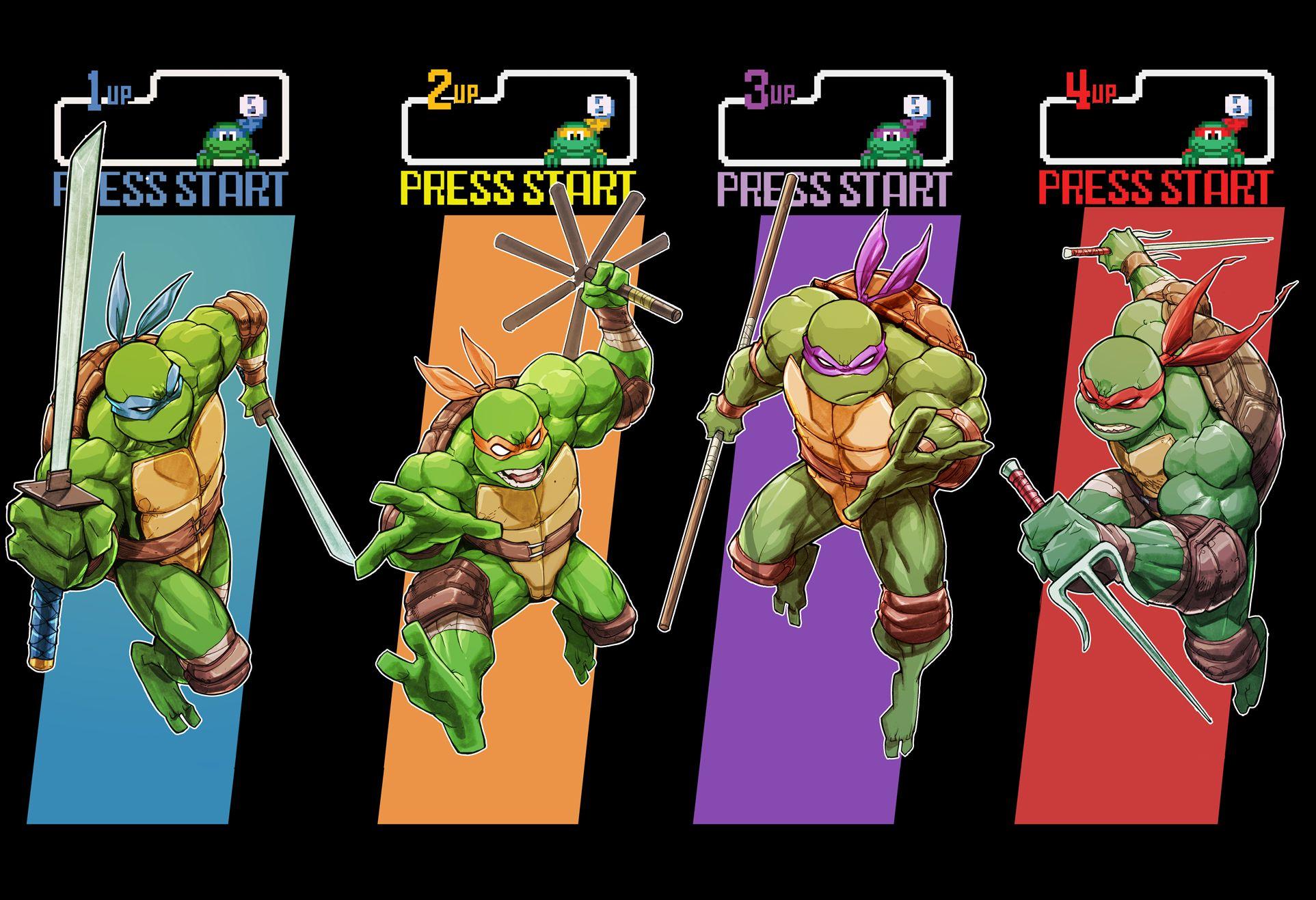Tmnt Arcade Print Teenage Mutant Ninja Turtles Art Tmnt Ninja Turtles Art