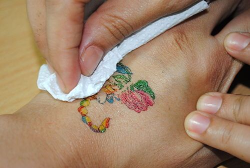 remove temporary tattoos baby oil diy tattoo and life hacks