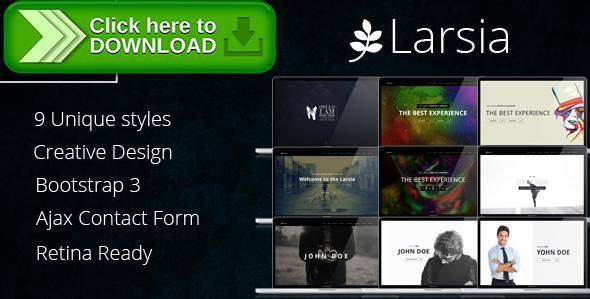 Free nulled larsia gold onepage personal resume template themeforestfree nulled download larsia gold onepage personal resume template from http yelopaper