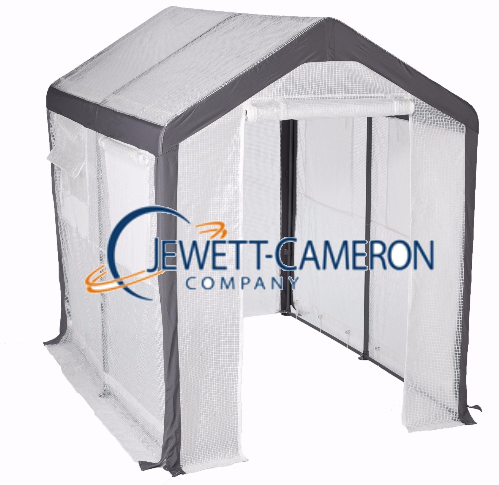 Jewett Cameron Spring Gardener 6 ft. W x 8 ft. D Polyethylene Gable Greenhouse, Silver
