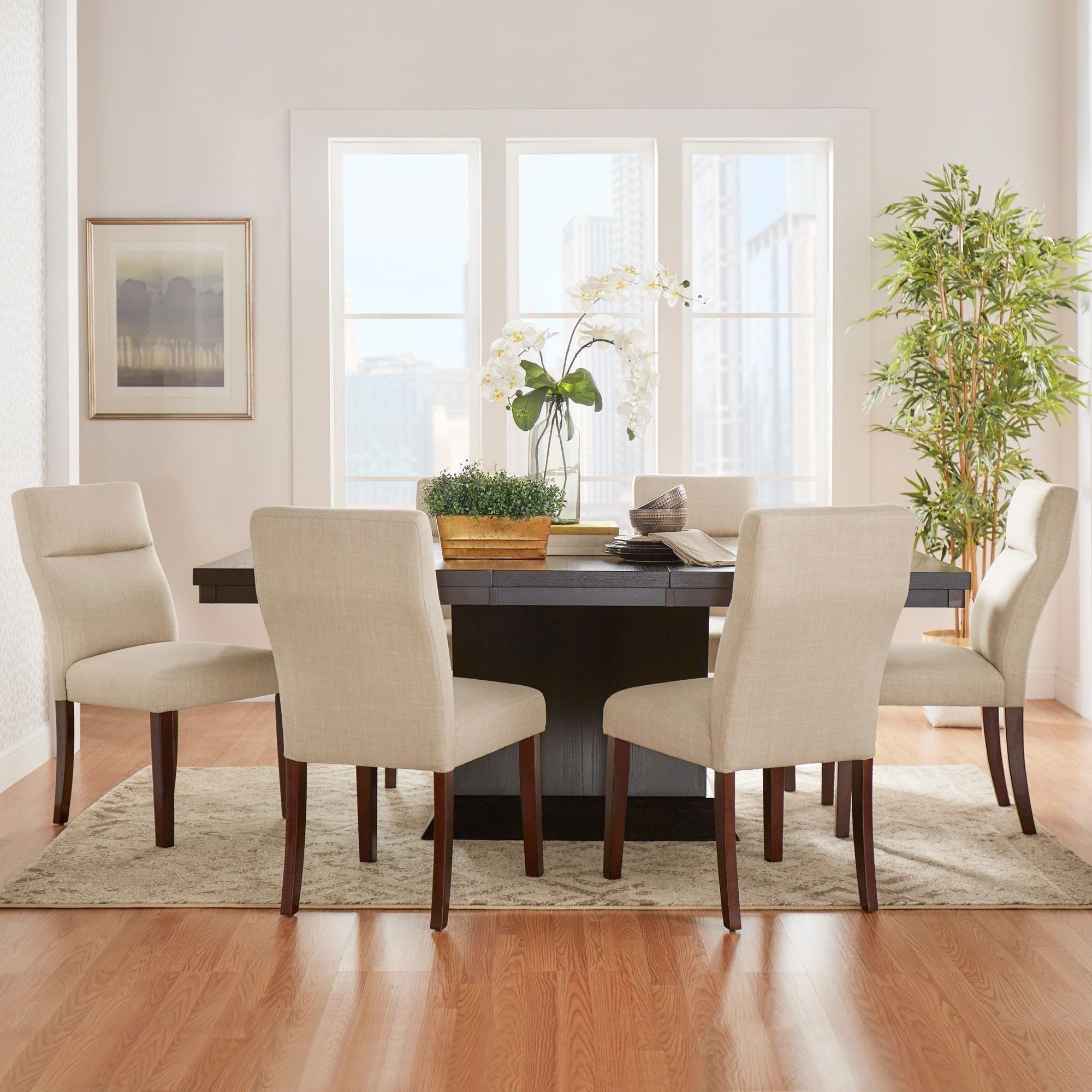 MID-CENTURY LIVING Charles Espresso Contemporary Dining Set iNSPIRE Q Modern  by iNSPIRE Q