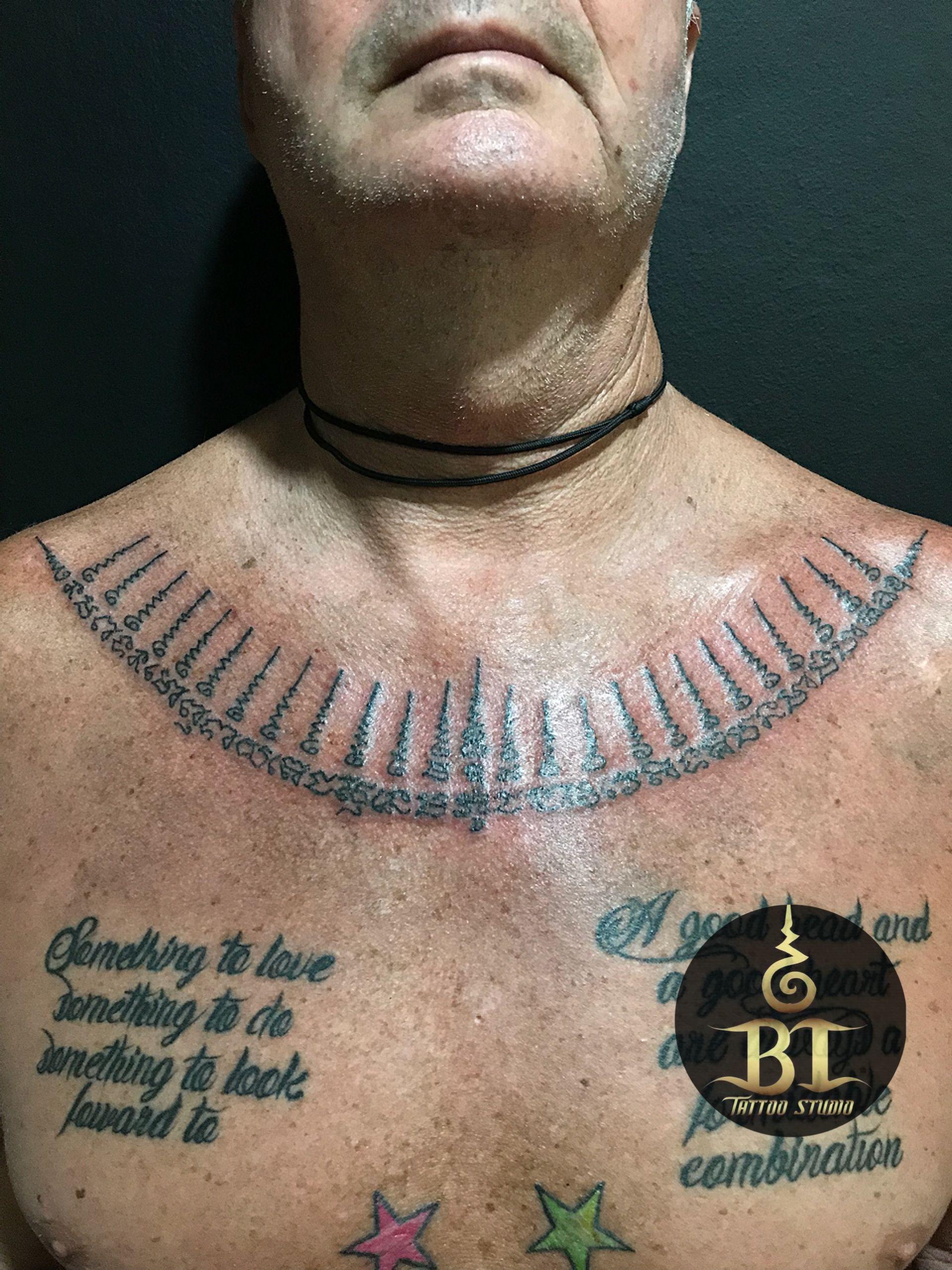 Henna Tattoo In Bangkok: Done Traditional Thai Sak Yant Tattoo Tattoo By Ajarn Tom