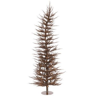 The Holiday Aisle 6\u0027 Mocha Laser Artificial Christmas Tree with 150