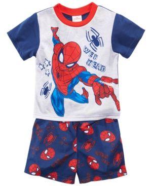 Marvel Spiderman Boys Short Pajamas