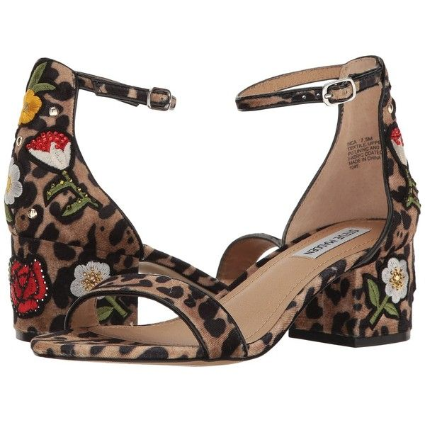Steve Madden Inca (Leopard Multi) Women's Shoes ($100) ❤ liked on Polyvore