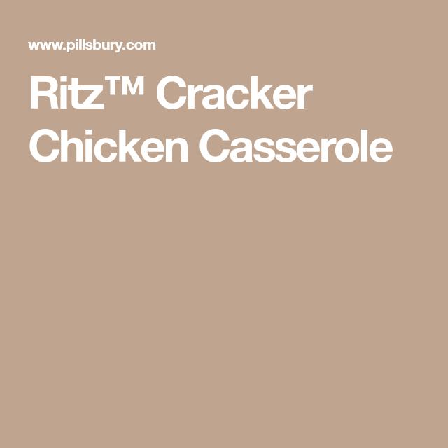 Ritz™ Cracker Chicken Casserole