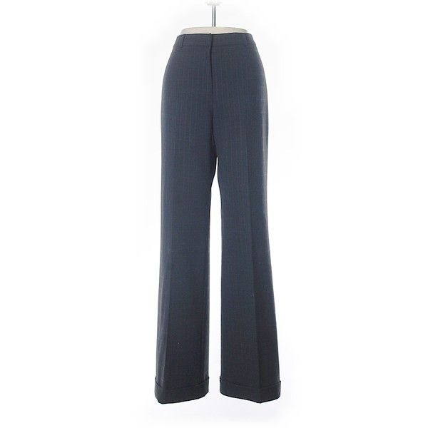Pre-owned Antonio Melani Dress Pants (€15) ❤ liked on Polyvore featuring pants, grey, dress trousers, grey pants, antonio melani, slacks pants and gray pants
