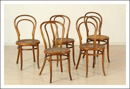 Sedie Thonet ~ Gruppo sedie thonet antiquariato su arsantik american