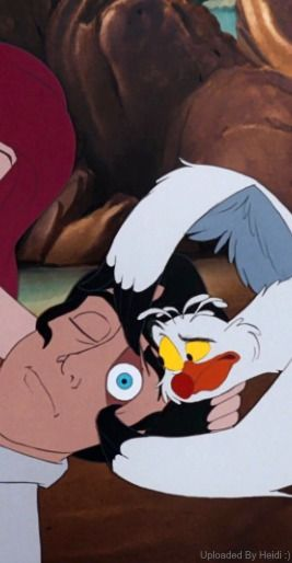 Image result for the little mermaid 1989 eric and scuttle