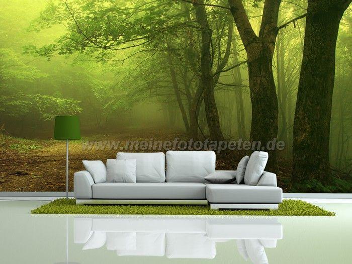 Wohnzimmer Fototapete  Wald Wildnis Natur  Waldlandschaft  Tapeten  Fototapete wohnzimmer
