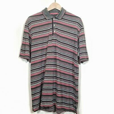 Tommy Bahama Sz M 18 Golf Gray Red Stripe Polo Shirt Valencia Men's #0728 #fashion #clothing #shoes #accessories #men #mensclothing (ebay link)