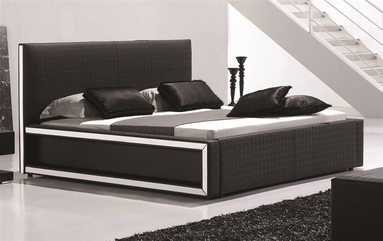 Georgia Modern Bed Frame King Size White Upholstery Modern Bed