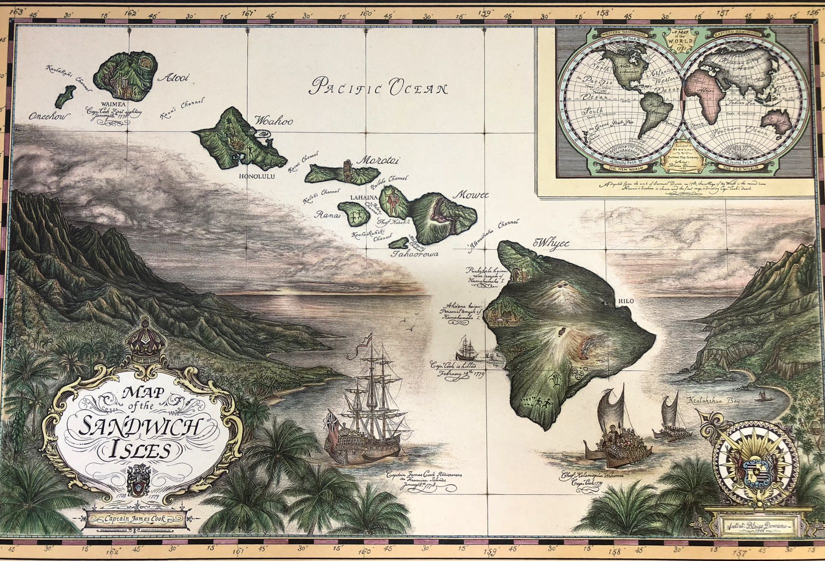 Sandwich Islands map - old map of Hawaii Islands | 1000 ... on map of carribean, map of bahamas, map of bali, map of malaysia, map of seychelles, map of brazil, map of austrailia, map of spain, map of new zealand, map of thailand, map of moorea, map of costa rica, map of switzerland, map of fiji, map of pacific ocean, map of kwajalein, map of south pacific, map of french polynesia, map of bora bora, map of hawaii,