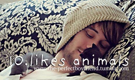 likes animals.