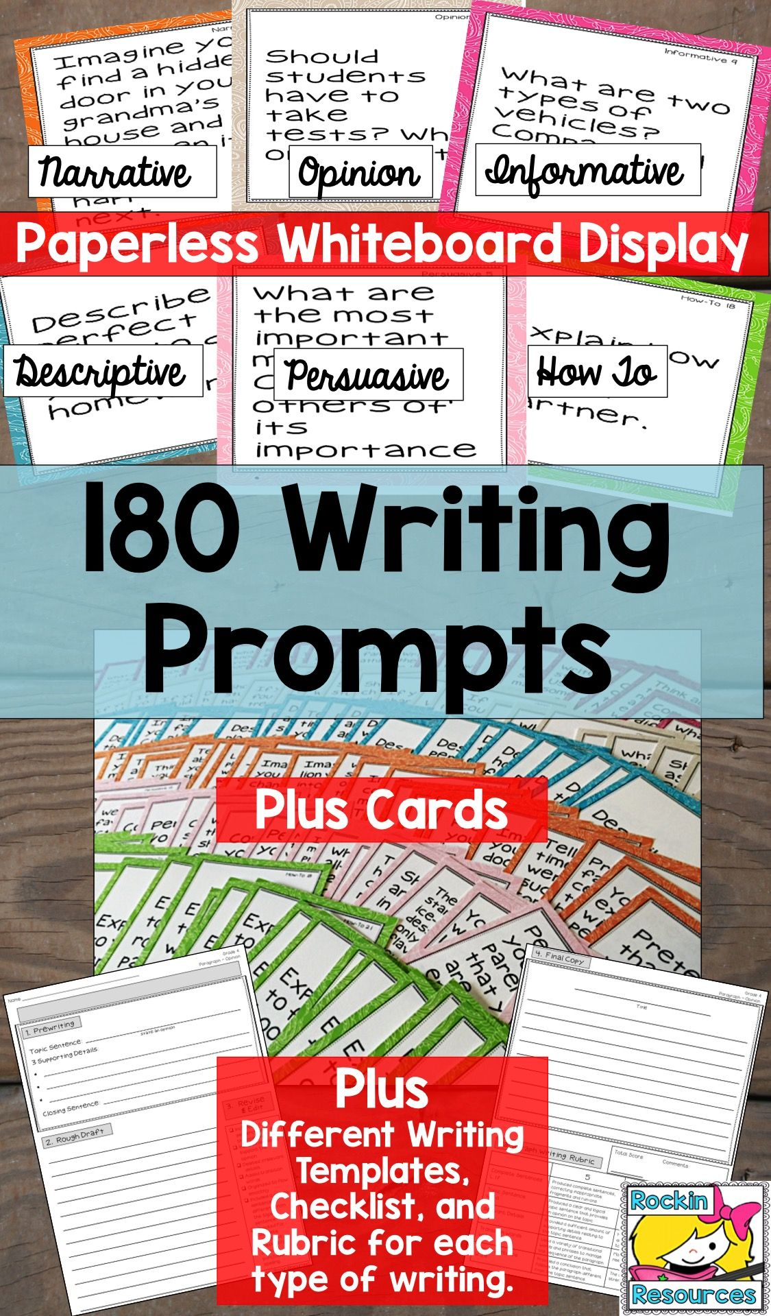 Paragraph Writing Prompts Essay Writing Prompts Writing Checklists And Rubrics