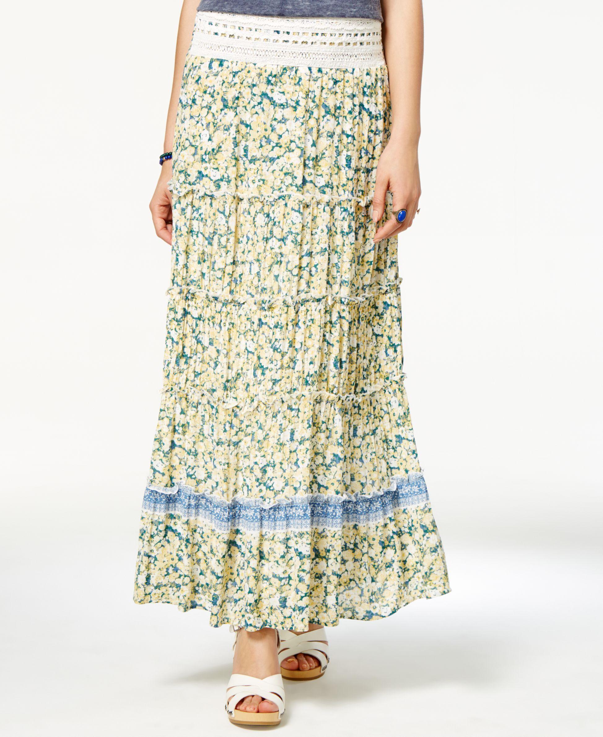 White apron macy's - American Rag Printed Crochet Trim Maxi Skirt Only At Macy S